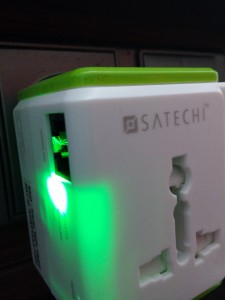 Wifi light of Satechi Smart Travel Router